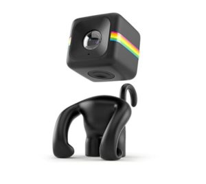 polaroid cube and monkey stand