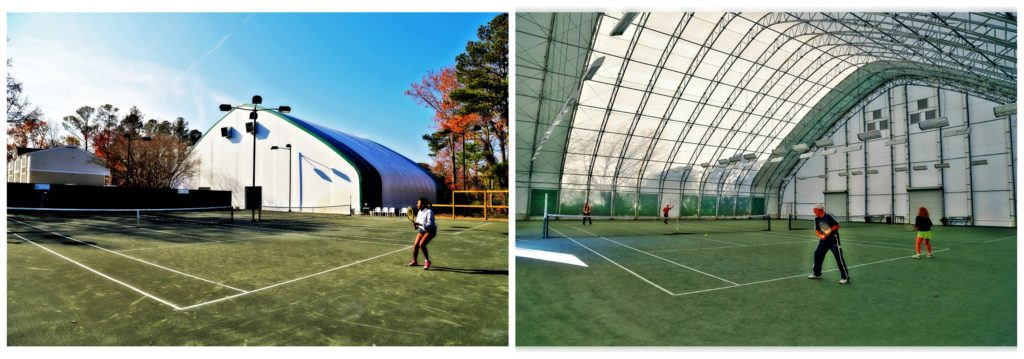 tennis fabric structure clearspan
